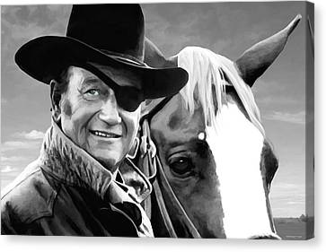 John Wayne @ True Grit #1 Canvas Print by Gabriel T Toro