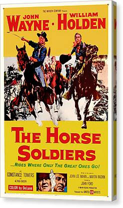 John Wayne And William Holden In The Horse Soldiers 1959 Canvas Print by Mountain Dreams