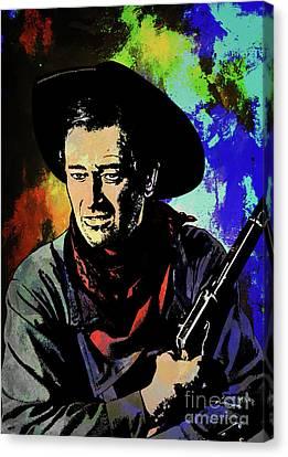 Canvas Print featuring the painting John Wayne, by Andrzej Szczerski