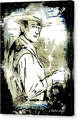 John Wayne Canvas Print by Arline Wagner