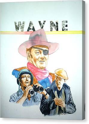 John Wayne Canvas Print by Bryan Bustard