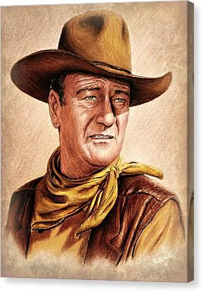 John Wayne Colour Version Canvas Print by Andrew Read