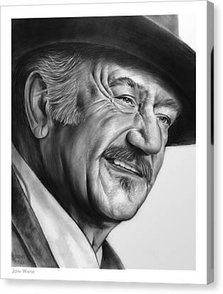 John Wayne Canvas Print by Greg Joens