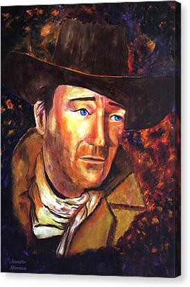 Canvas Print featuring the painting John Wayne by Jennifer Godshalk