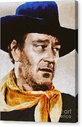 John Wayne, Vintage Hollywood Actor Canvas Print