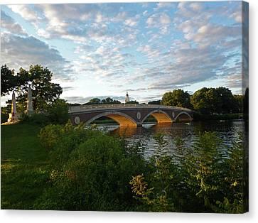 John Weeks Bridge In Harvard Square Cambridge Canvas Print by Toby McGuire
