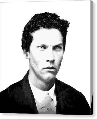 John Wesley Hardin Outlaw Legend Canvas Print by Daniel Hagerman