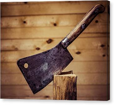 Canvas Print featuring the photograph Johne Smith And Sons Meat Cleaver by Chris Bordeleau