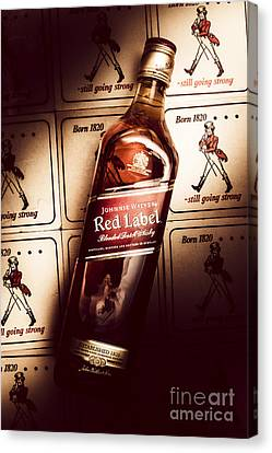 Johnnie Walker Red Label Blended Whisky  Canvas Print by Jorgo Photography - Wall Art Gallery