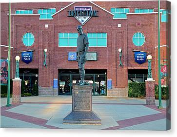 Johnny Bench Okc Canvas Print by Frozen in Time Fine Art Photography