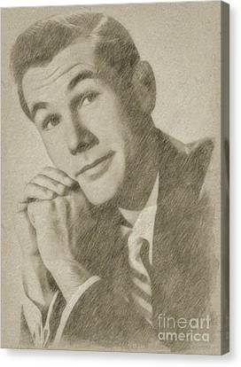 Noir Canvas Print - Johnny Carson, Entertainer by Frank Falcon