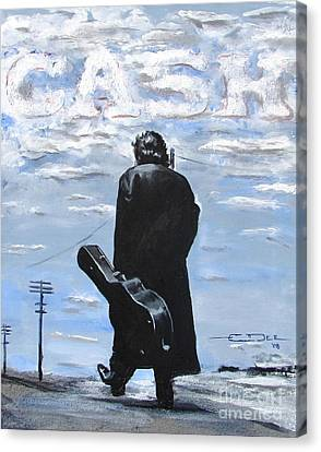Johnny Cash Canvas Print - Johnny Cash - Going To Jackson by Eric Dee