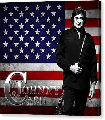 Johnny Cash American Icon Canvas Print by Hans Wolfgang Muller Leg