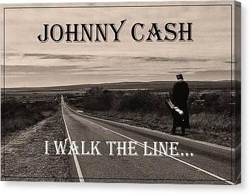 Johnny Cash Canvas Print by Hans Wolfgang Muller Leg