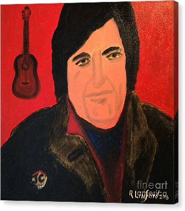 He Walks With Me Canvas Print - Johnny Cash I Walk The Line by Richard W Linford