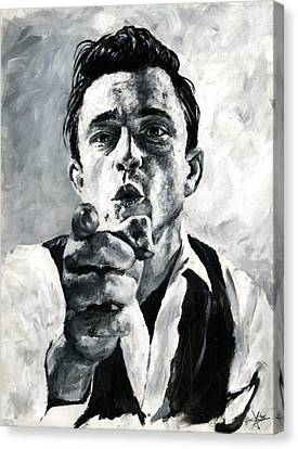 Johnny Cash II Canvas Print