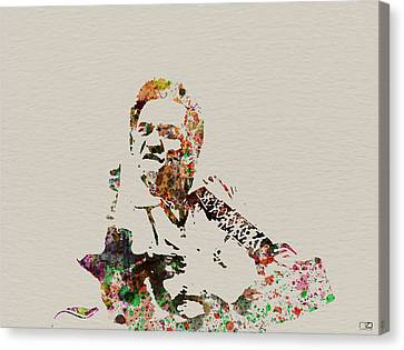 Johnny Cash Canvas Print by Naxart Studio