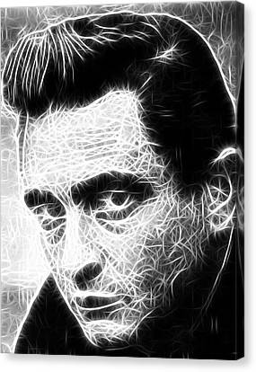Johnny Cash Canvas Print by Paul Van Scott