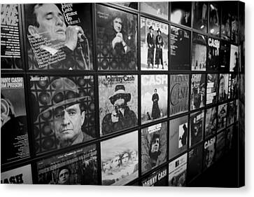 Johnny Cash Records At Johnny Cash Museum Canvas Print by Dan Sproul