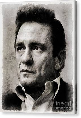 Johnny Cash, Singer Canvas Print by John Springfield