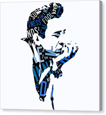 Johnny Cash Song Lyric I Walk The Line Canvas Print by Marvin Blaine