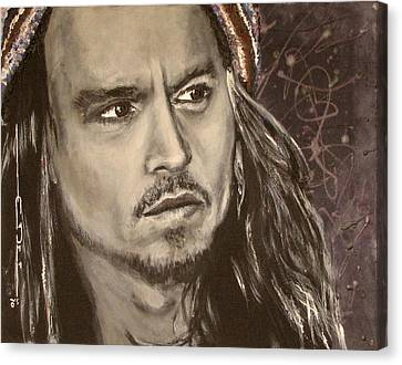 Johnny Depp Canvas Print by Eric Dee