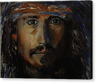Johnny Depp Savvy Canvas Print by Regina Brandt