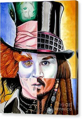 Johnny Depp's Greatest Canvas Print by Andres Machado
