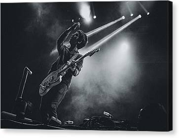 Johnny Marr Playing Live Canvas Print by Marco Oliveira