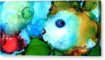 Johnny The Rocker Fish Canvas Print by Annie StMartin