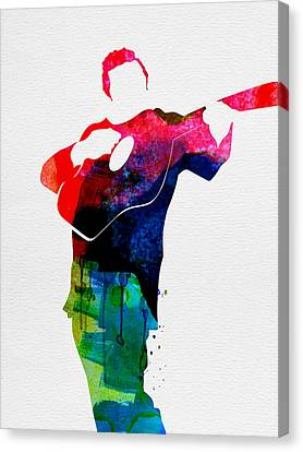 Johnny Watercolor Canvas Print by Naxart Studio
