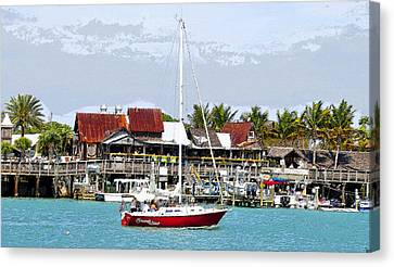 Johns Pass Florida Canvas Print by David Lee Thompson
