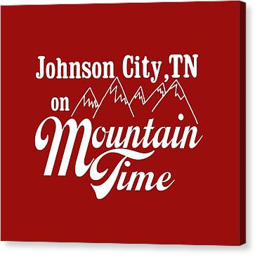 Mountain Cabin Canvas Print - Johnson City Tn On Mountain Time by Heather Applegate