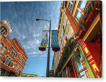 Johnson Street In Victoria B.c. Canvas Print by David Gn