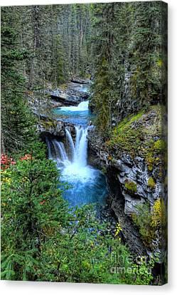 Johnston Canyon Falls Hike Lower Falls Canvas Print
