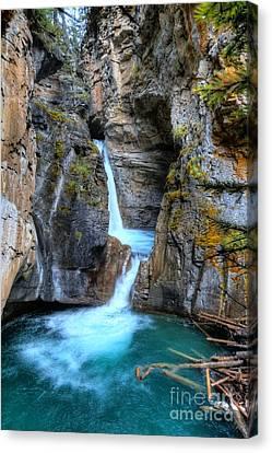 Johnston Canyon Falls Hike Upper Falls II Canvas Print