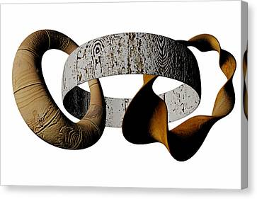 Canvas Print featuring the sculpture Join Circles by R Muirhead Art