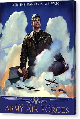 Join The Army Air Forces Canvas Print by War Is Hell Store