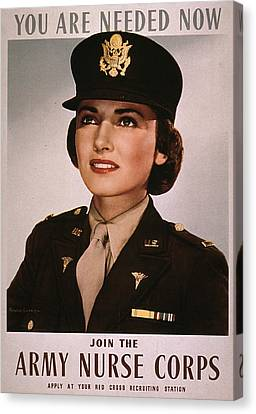 Join The Army Nurse Corps. 1943 Canvas Print by Everett