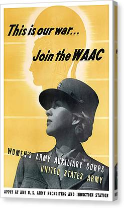 Join The Waac Canvas Print by War Is Hell Store