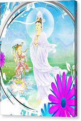 Joining Palms Kuan Yin 1 Canvas Print