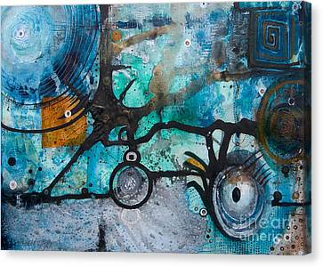 Jay Taylor Canvas Print - Joining The Dots by Jay Taylor