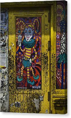 Joker Door New Orleans Canvas Print by Garry Gay