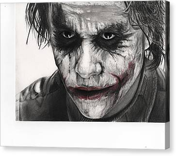 Joker Face Canvas Print by James Holko