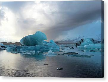 Canvas Print featuring the photograph Jokulsarlon, The Glacier Lagoon, Iceland 4 by Dubi Roman