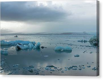 Canvas Print featuring the photograph Jokulsarlon, The Glacier Lagoon, Iceland 1 by Dubi Roman