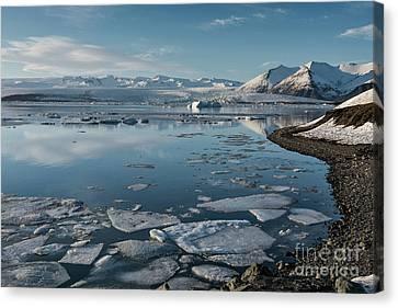 Canvas Print featuring the photograph Jokulsarlon Ice Lagoon - Iceland by Sandra Bronstein