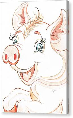 Jolly Miss Piggy Canvas Print