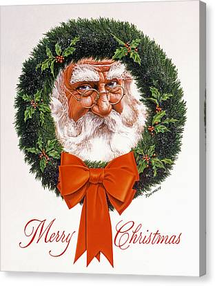 Jolly Old Saint Nick Canvas Print by Richard De Wolfe