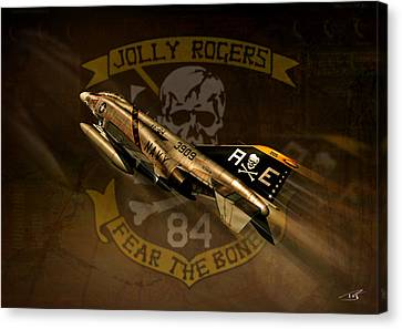 Jolly Rogers Phantom Two Canvas Print by Peter Van Stigt